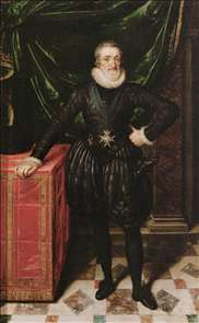 Henry IV, King of France in Black Dress