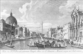 The Canal Grande with San Simeone Piccolo and the Scalzi
