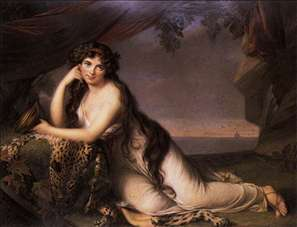 Lady Hamilton as a Bacchante