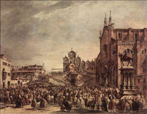 Pope Pius VI Blessing the People on Campo Santi Giovanni e Paolo