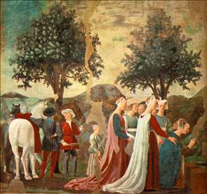 Adoration of the Holy Wood (left view)