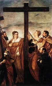 Sts Helen and Barbara Adoring the Cross