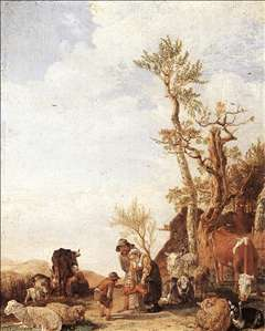 Peasant Family with Animals