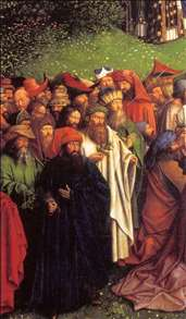 The Ghent Altarpiece: Adoration of the Lamb (detail)