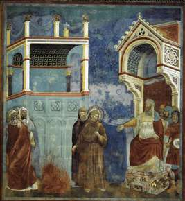 Legend of St Francis: 11. St Francis before the Sultan (Trial by Fire)