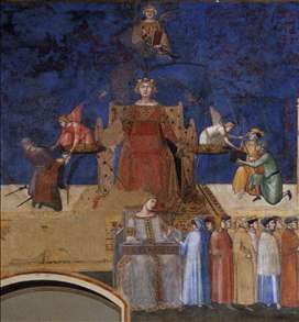 Allegory of the Good Government (left view, detail)