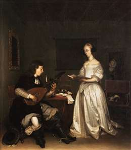 The Duet: Singer and Theorbo Player