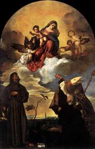 Madonna in Glory with the Christ Child and Sts Francis and Alvise with the Donor
