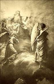 Illustration to Imre Madách's The Tragedy of Man: In the Heaven (Scene 1)