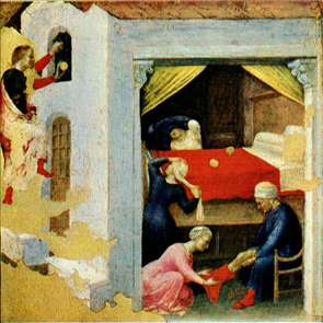 Quaratesi Altarpiece: St. Nicholas and three poor maidens