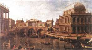 Capriccio: a Palladian Design for the Rialto Bridge, with Buildings at Vicenza
