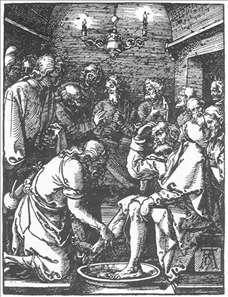Small Passion: 9. Christ Washing Peter's Feet