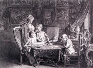 Self-Portrait with Family at the Table