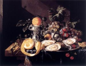 Still-Life with Oysters, Lemons and Grapes