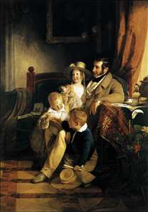Rudolf von Arthaber with his Children