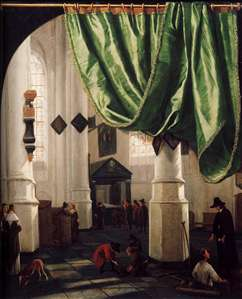 Interior of the Oude Kerk, Delft, with the Tomb of Piet Hein