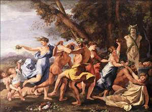Bacchanal before a Statue of Pan