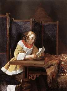 A Lady Reading a Letter