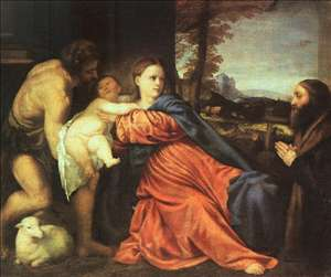 Holy Family and Donor