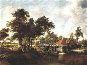 Wooded Landscape with Water Mill