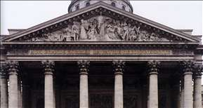 Pediment relief of the Pantheon