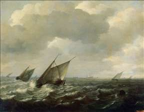 Sailing Vessels in a Strong Wind