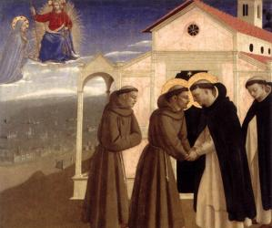 Meeting of St Francis and St Dominic