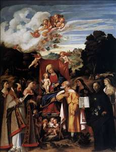 Virgin Enthroned with Angels and Saints