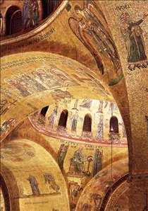 Mosaics in the nave