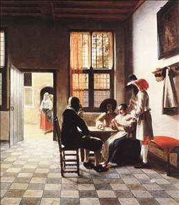 Cardplayers in a Sunlit Room