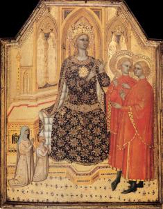 St Catherine Enthroned with Two Saints and Two Donors