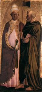 Pope Gregory the Great (?) and St Matthias