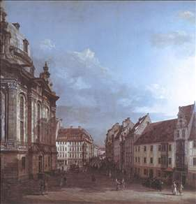 Dresden, the Frauenkirche and the Rampische Gasse
