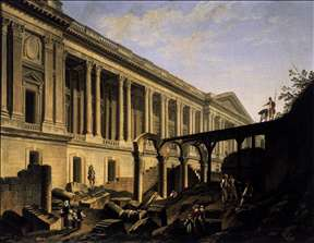 Clearing the Area in front of the Louvre Colonnade