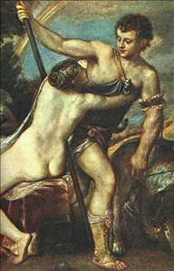 Venus and Adonis, detail