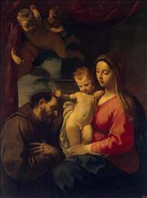 Virgin and Child with St Francis of Assisi