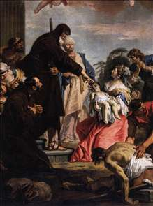 St Francis of Paola Resuscitating a Dead Child