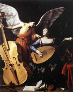 Saint Cecilia and the Angel