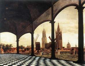 A View of Delft through an Imaginary Loggia
