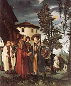 St Florian Taking Leave of the Monastery