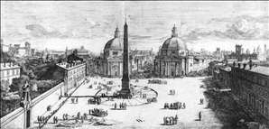 View of the Piazza del Popolo, Rome