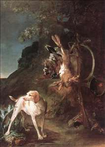 Game Still-Life with Hunting Dog