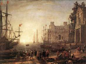 Port Scene with the Villa Medici