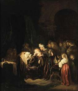 David and Batsheba Mourning over Their Dead Son