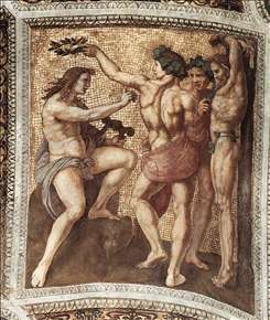 Apollo and Marsyas (ceiling panel)