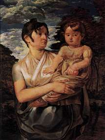 The Artist's Wife and Son