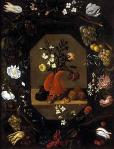 Still-Life with Flowers with a Garland of Fruit and Flowers