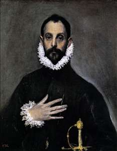 Nobleman with his Hand on his Chest - El Greco Gallery - Portrait ...