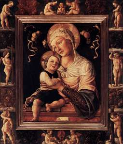 Madonna and Child in Painted Frame