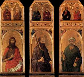 Three panels from the Santa Croce Altar
